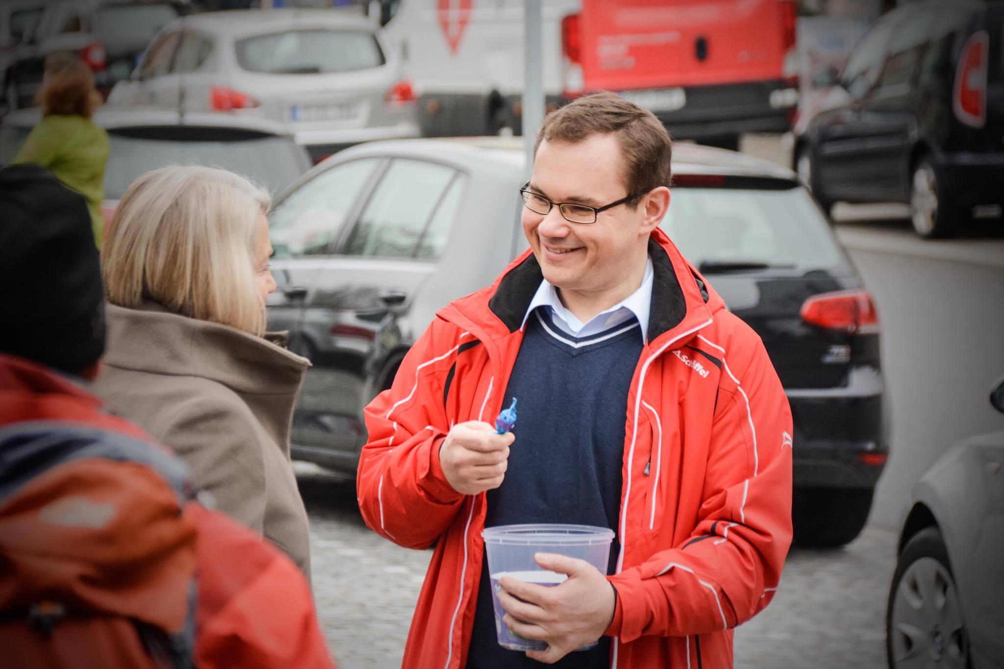Tobias Hammerl am Kumpfmühler Markt